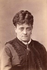 USA Stage Actress Fanny Janauschek Portrait Autograph Theatre old Photo 1870's