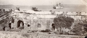Colombia Cartagena Castle of San Luis de Bocachica old GJ Becker Photo 1910's