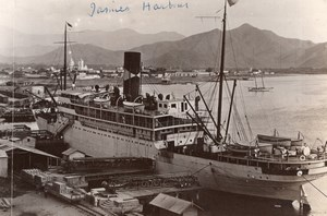 Colombia Santa Marta SS Almirante docked in Harbour old GJ Becker Photo 1914