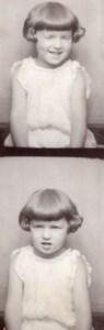 USA ? Portrait d'Enfant Fille Photomaton Photobooth old Photo 1920's ?
