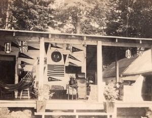 USA Maison d'Etudiant ou Professeur Fanions d'Universite Lot de snapshot Photos Anciennes 1920
