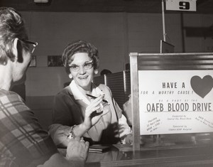 Orlando AFB OAFB Blood Drive Florida Blood Bank old US Air Force Photo 1966