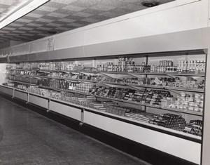 Orlando AFB Scene at Air Force Base Supermarket Aisle Military Old Photo 1965