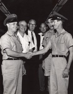 USA Florida Orlando Air Force Base Happy Officers old US Air Force Photo 1965