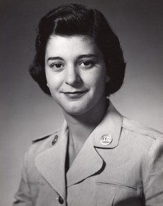 Orlando AFB Air Force Base Military Woman Portrait Old Photo 1960's