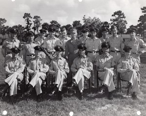 Orlando AFB? Air Force Base Military Group Portrait Old Photo 1960's