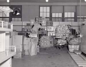 Orlando AFB US Air Force Base Supermarket Warehouse Worker Old Photo 1960's