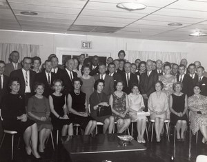 Orlando AFB? Air Force Base Office Workers Group Portrait Old Photo 1965