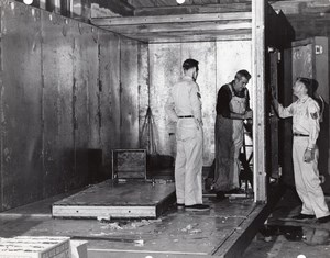 Orlando AFB US Air Force Base Supermarket Building Cold Room? Old Photo 1960's