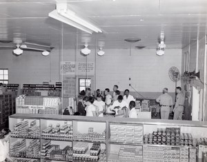 Orlando AFB US Air Force Base Supermarket Checkouts Old Photo 1960's