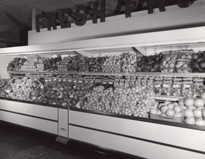 Orlando AFB US Air Force Base Supermarket Fresh Fruits Old Photo 1964
