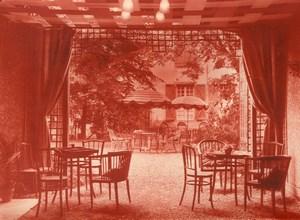 France Toulouse? Café Restaurant Garden Courtyard old Photo 1950's ?