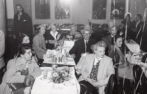 France Luchon Group Party in a Restaurant old Benezech Photo Pierrot 1960's