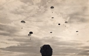 France Bourges Parachute Jumping Training P Rouland? Old Photo 1947