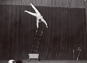 France Paris Salle Pleyel Acrobat Hermani old Photo 1960