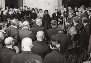 Paris Église Saint-Philippe-du-Roule Cino Del Duca Funerals old Press Photo 1967