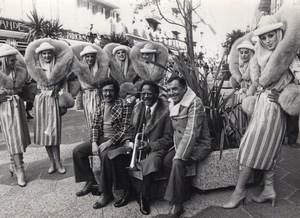 Nice 3 Jazzmen Clark Terry Barney Wilen Aime Barelli Casino Ruhl old Photo 1978