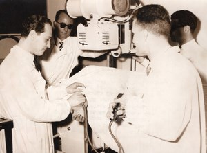 Italy Rome Professor Giacobini Heart Xray Cardiac Radiography Press Photo 1955