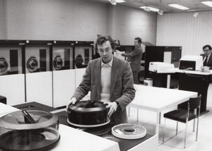 Journaliste Laurent Broomhead Centre de Calcul CII Honeywell-Bull Ancienne Photo de Presse 1981