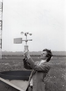 Journaliste Laurent Broomhead Magny les Hameaux Meteorologie Nationale Ancienne Photo de Presse 1980