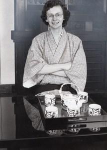 Journalist Laurent Broomhead Kimono Planete Bleue TV Program Press Photo 1983