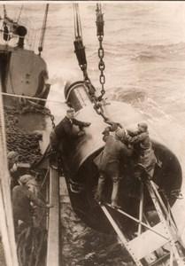 France? Bouee Phare Flottant Navigation Maritime Ancienne Photo 1930's