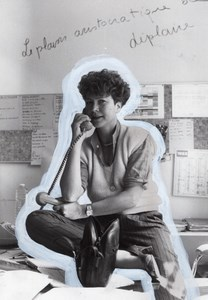 Pascale Breugnot Portrait TV Program Antenne 2 old Photo 1983