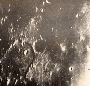 1964 Press Photo of the Moon taken by American space probe Ranger 7