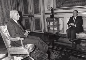 Paris Algerian President Chadli Bendjedid François Mitterrand Press Photo 1983