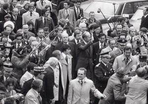1975 G6 Summit Giscard d'Estaing Gerald Ford Helmut Schmidt Miki Press Photo