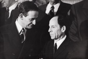 Politics New French Gouvernment Michel Jobert Robert Galley old Press Photo 1973