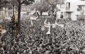 Paris Demonstration of Support to Israel Six-Day War old Press Photo 1967