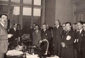 Politique André Philip et Delegation de Fonctionnaires Ancienne Photo de Presse 1947
