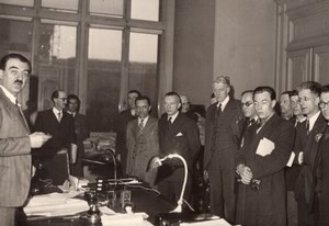 French Politics André Philip & Civil Servants Delegation old Press Photo 1947