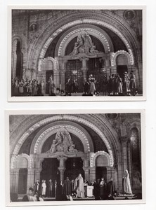 France Lourdes Basilica Historical Play Pageant Lot of 7 old Studio Alpy Photos