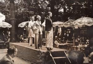 Chateau de Madrid Bois de Boulogne? Fashion Bathing Suit old Meurisse Photo 1931