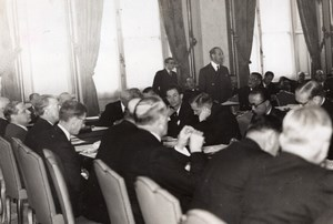 Paris Georges Bonnet Diplomatic Conference old SAFARA Photo 1938