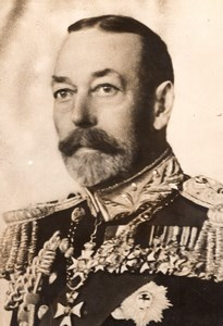 Death of British King George V Portrait old Meurisse Photo 1936