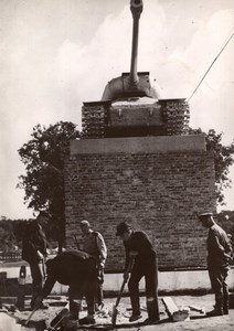 Russian Military Monument 1st Tank to Enter Berlin old Photo 1945