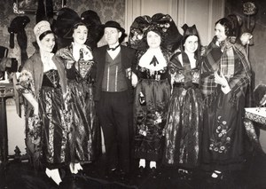 Paris Alsace Headdress & Costume Exposition old Photo 1936