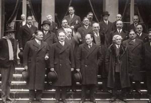 Paris Gouvernement Edouard Daladier Paul-Boncour Ancienne Photo Meurisse 1933