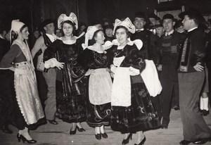 Paris Grand Palais Cercle Celtique Danses Folklore Bretons Ancienne Photo Meurisse 1936