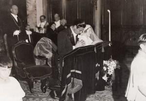 Paris Di Paco Salvati Wedding Immaculée-Conception Church Meurisse Photo 1930's