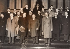Paris Gouvernment Albert Sarraut Paul-Boncour old Meurisse Photo 1933