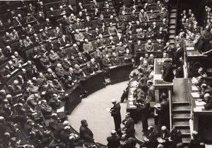 Paris Parliament Extraordinary Session after Munich Agreement SAFARA Photo 1938