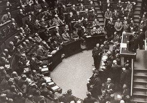 French Politics Paris Mr Daladier Addresses Parliament old Meurisse Photo 1930's