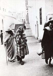 Maghreb Pedestrian Street unidentified Arab Town old Photo 1940's ?