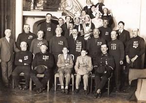 Paris Heros de la Mer a la Sorbonne Groupe de Sauveteurs Ancienne Photo Meurisse 1931