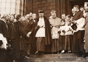 Paris La Madeleine Cinema & Radio Mass Bishop Verdier old Meurisse Photo 1933