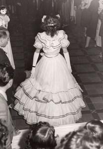 France Masquerade ball Fashion Parade? Old Perron Bar Photo 1950's